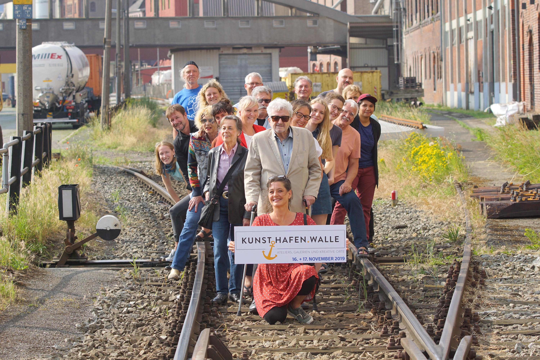 Das Projekt KunstHafenWalle auf den Schienen