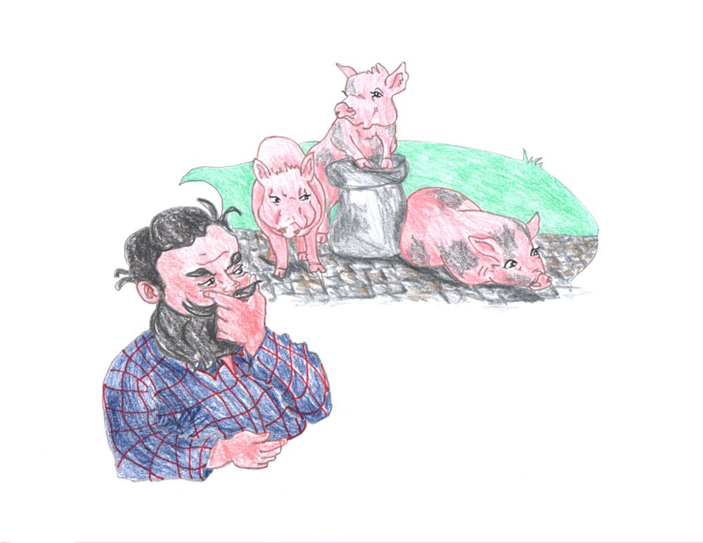 [41] NICOLE FABERT, Speed-Karikaturen