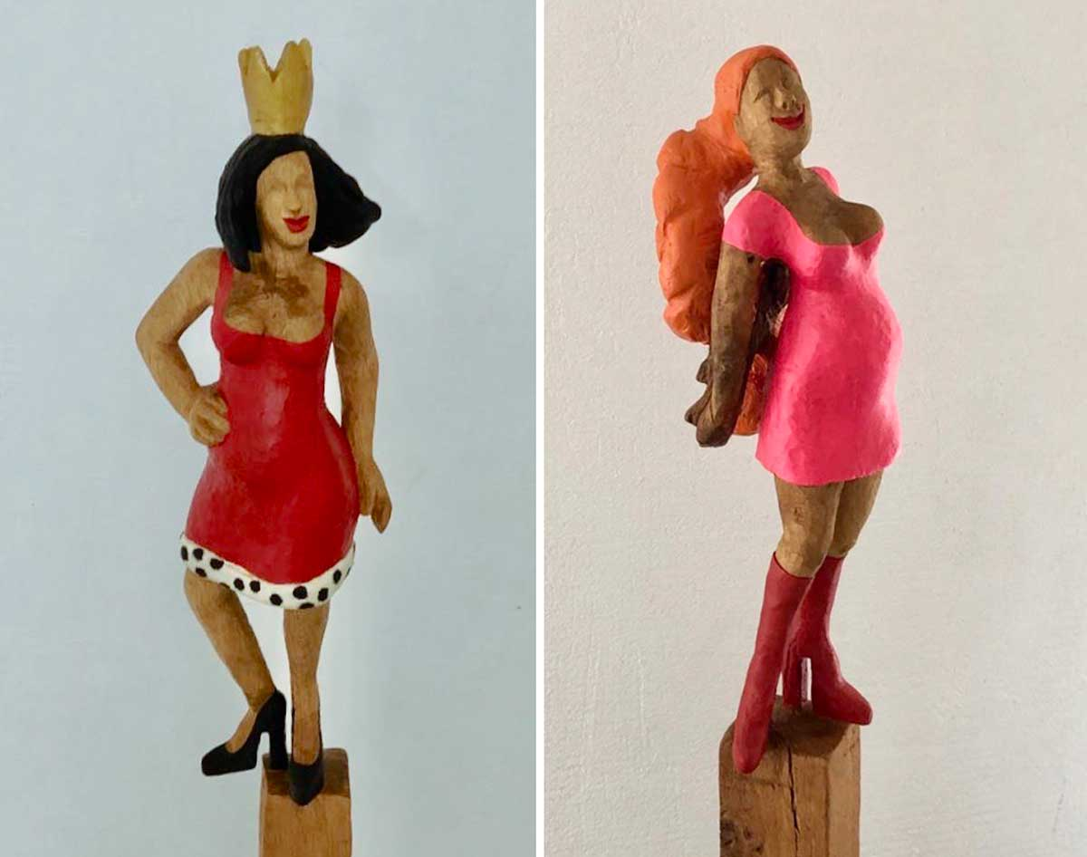 Gastkünstlerinnen in der Eisfabrik-Galerie